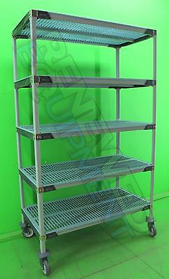"InterMetro MetroMax  Polymer Storage Rack wheels 24""x48""x80"" 5 shelfs"