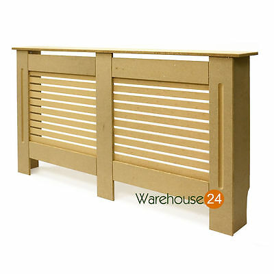 Radiator Cover Cabinet Wood MDF Traditional Modern Unpainted Large