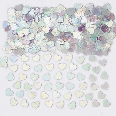 Sparkle Hearts Iridescent Metallic Table Confetti 14g Party Sprinkles/Decoration