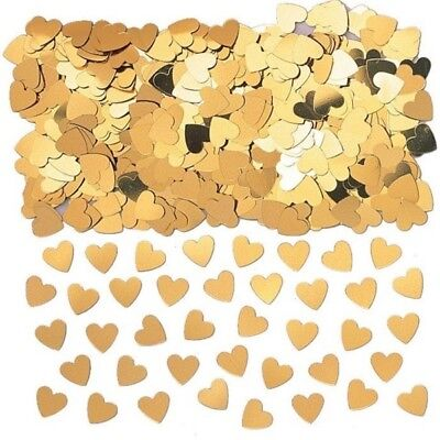 Sparkle Hearts Gold Metallic Table Confetti 14g Party Sprinkles/Decorations