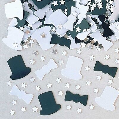 Top Hat Metallic Table Confetti 14g Party Sprinkles/Decorations