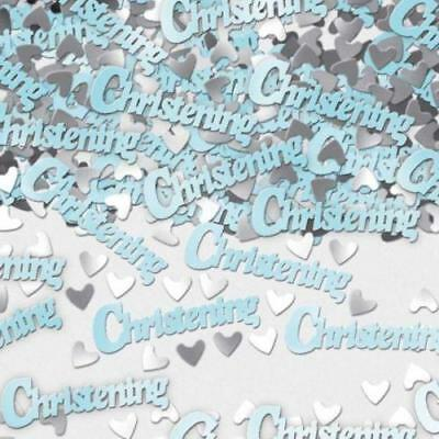 Christening Blue Metallic Table Confetti 14g Party Sprinkles/Decorations