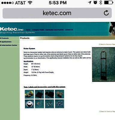 KETEC Retail shoplifting prevention system used