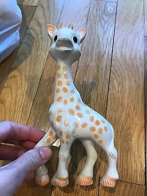Vulli Sophie the Giraffe Teether Baby's Favorite Toy Rubber Squeaks Pre-owned