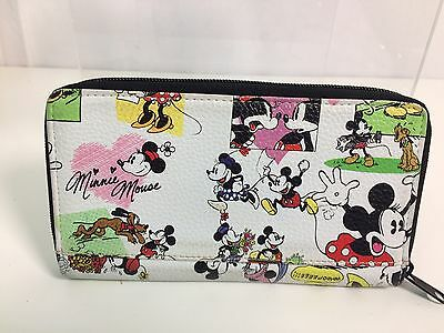 Disney Theme Parks Mickey and Minnie Mouse Comic Strip Pattern Wallet