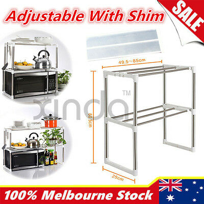 New Space Saving Layers Microwave Oven Shelf Rack Stand Kitchen Storage Holders
