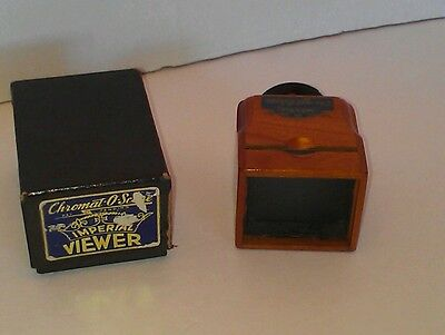Vintage Nice Original 40's Chromat-O-Scope Imperial Hand Held Slide Viewer