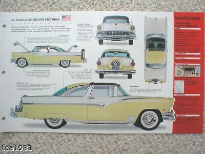 1955/1956 Ford FAIRLANE CROWN VIC. SPEC SHEET/ Brochure