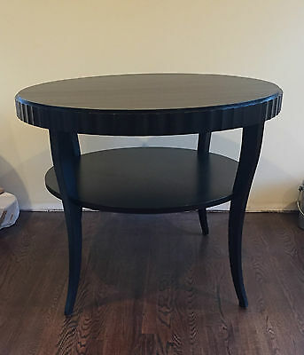 Barbara Barry for Baker Large Side Table Round Java Finish