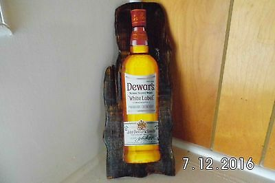 Handmade Rustic Wooden Dewar's Scotch Whisky Bar Sign 2016 Original