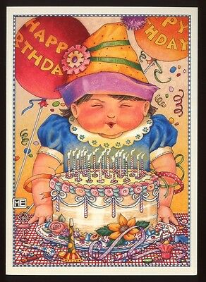 UNUSED 2000 Mary ENGELBREIT BIRTHDAY Greeting Card   HAPPY BIRTHDAY GIRL  +env