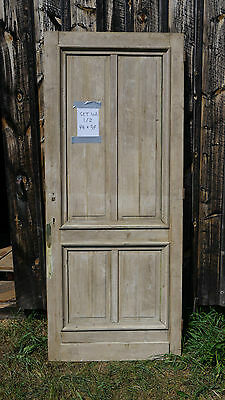 LOT Antique Wood Doors Architectural Salvage Trim  4 Panel set of 2 94x39 french
