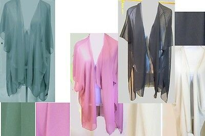 Solid Color Chiffon Vest Scarf Lot of 4