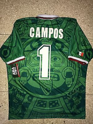 Mexico 1988   Campos Wc 98 , Authentic Shirt Aba Sport M