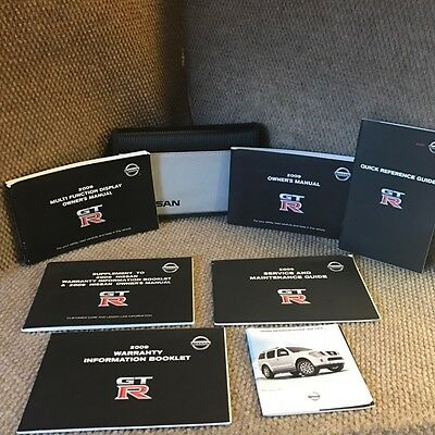 2009 Nissan GT-R GTR Owners Manual COMPLETE SET with Navigation book and case
