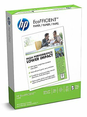 HP Paper, EcoFFICIENT Copy Paper, 16lb, 8.5x11, Letter,  92 Bright, 625 Sheets /