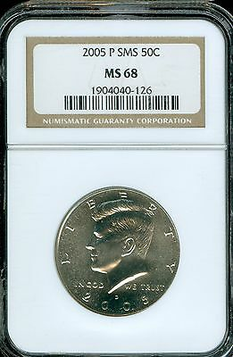 2005-P SMS Kennedy Half Dollar Grade MS68 by NGC ..