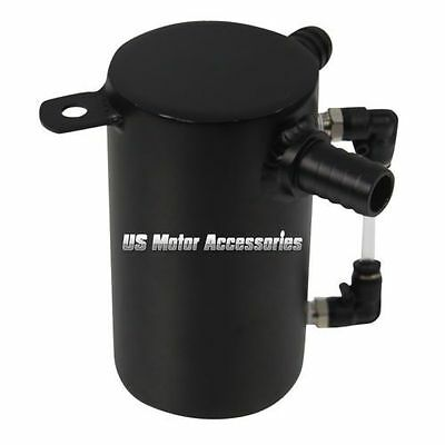 0.5L ALUMINIUM OIL CATCH CAN BREATHER TANK RESERVOIR Engine Modified BLACK