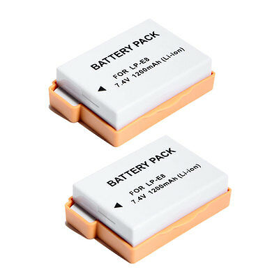 2X Canon LP-E8 LPE8 Battery for EOS 550D 700D Kiss X5 Rebel T3i T2i
