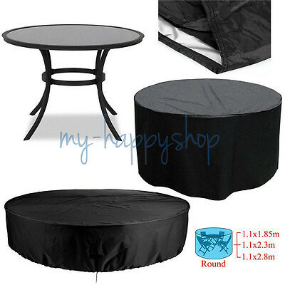 Heavy Duty Outside Garden Patio Furniture Round Seater Table Waterproof Cover AU