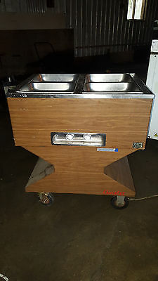 Duke Electric 4 Well Pan Steam Table Aerohot Hot Food Serving Cart Buffet