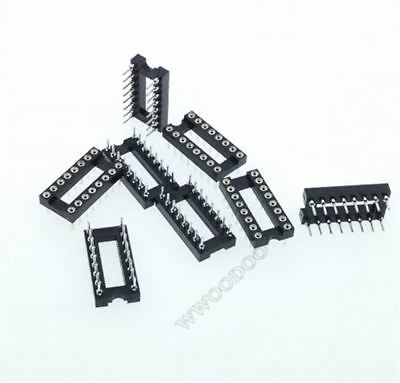 50Pcs Socket Adaptor Pitch 2.54Mm Dip Round Hole 16Pin New Ic V