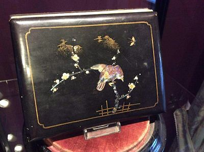 Antique Japanese Mother Of Pearl Photo Album.