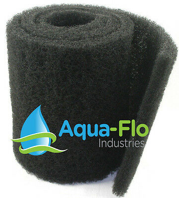 "12""x 72""x 1.25"" Coarse Black Universal Pond Filter Mat aquarium-filtration-media"