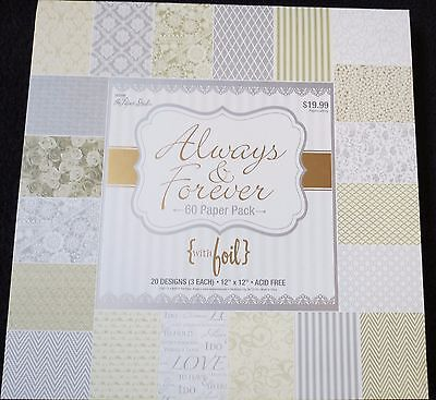 Always and Forever 12x12 Cardstock Paper Pack with Foil Accents by Paper Studio