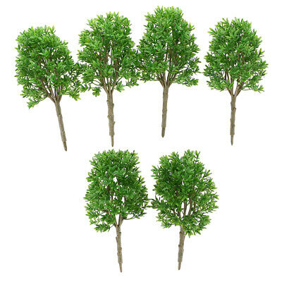 6pcs 1:30 Model Trees for Miniature Diorama Landscape Railways Scenery 20cm