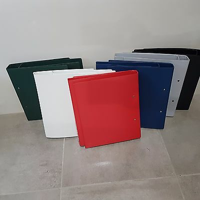 BANTEX 1332 Assorted Colours  25mm 2 RING BINDERS A4 Durable PVC 12 Files 73C002