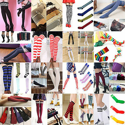 High Fashion Girls Women Thigh High OVER the KNEE Socks Long Cotton Stockings