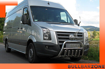 Volkswagen Crafter 06-16 Tubo Protezione Medium Bull Bar Inox Stainless Steel