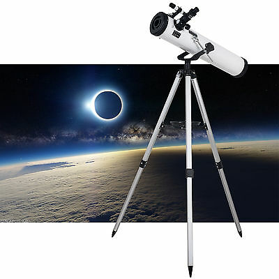TOP-MAX@ 700x76mm Reflector Telescope with Tripod and Eyepieces dual purpose UK
