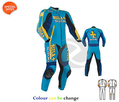 new one piece motorbike racing  leather suit rizla style customized your suit