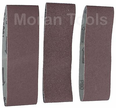 Sanding Belts Fits 60 x 400mm Sander Sheets 60 80 120 Grit Fine Medium Coarse
