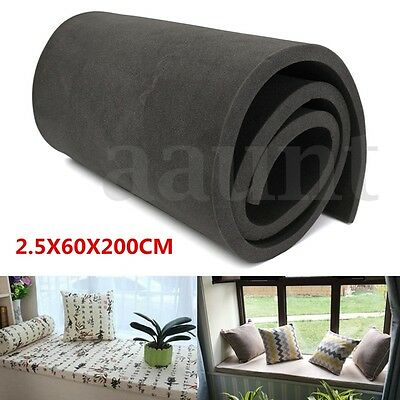 "1""x24""x79"" High Density Firm Rubber Foam Sheet Premium Seats Cushion Upholstery"