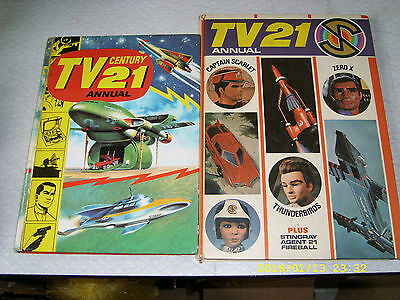Tv 21 Annuals 1966 1968 Thunderbirds Gerry Anderson Captain Scarlet Stingray