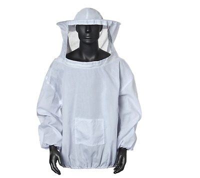 NEW Bee Suit Protective Beekeeping Outfit Veil Smock Beekeeper Coat Hat Jacket