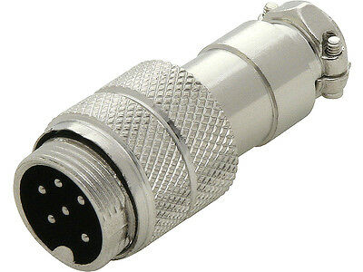 6 Pin CB / HAM Radio Mic Microphone Flying Socket In-Line Connector