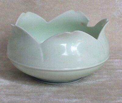Antique Chinese?  Celadon Glazed Lotus  Bowl NO 2
