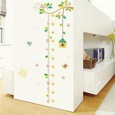 Kids Height Chart Wall Stickers Nursery Growth Measurement Ruler Removable Decal