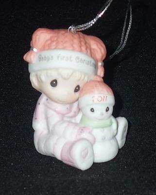 Precious Moments 2011 Baby's First Christmas GIRL Ornament #111005 NEW IN BOX