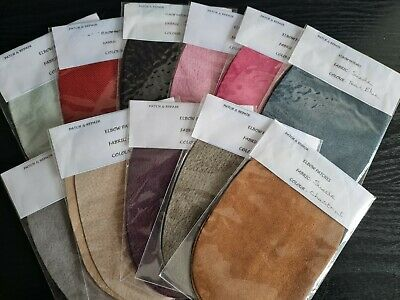100% Top Quality Suede Oval Elbow Patches / Trimmings, 11 Stunning Colors