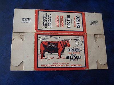 Ephemera - Orlox Beef suet packaging  x2 used condition  - Advertising -
