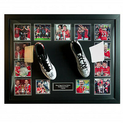 Manchester United F.C - Framed Signed Football Boots (GIGGS & SCHOLES)