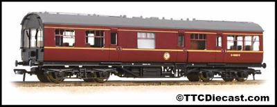 Bachmann 39-779 LMS 50' Inspection Coach BR Maroon with Maroon Ends