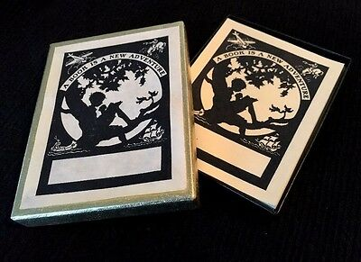 """⭐ Antioch Bookplates Company~Vintage Box Of 50 """"a Book Is A New Adventure"""" ⭐"""