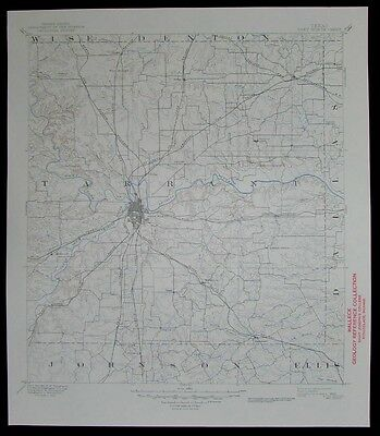 Fort Worth Texas vintage 1949 old USGS Topo chart