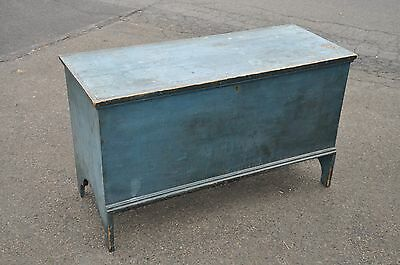 1800's Pine Six Board Painted Country Blanket Chest